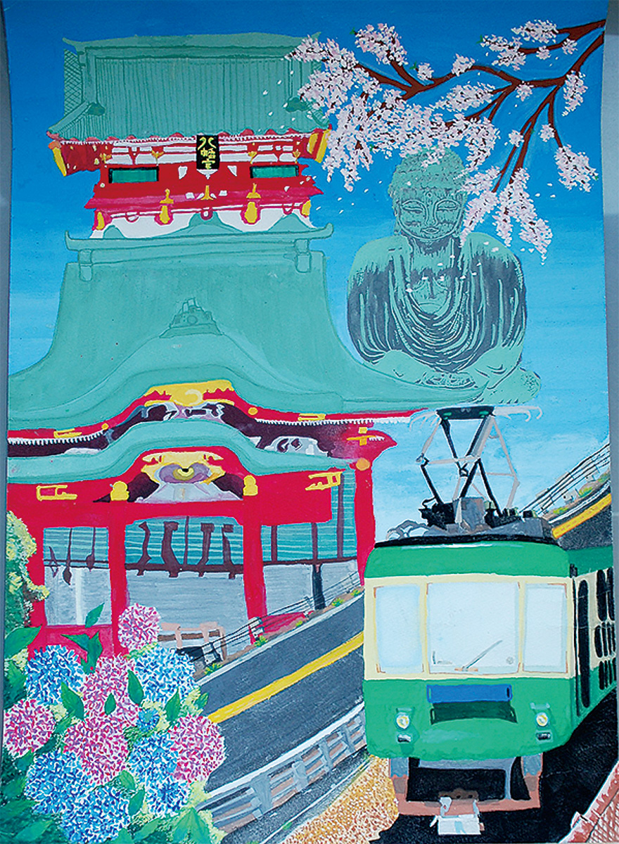 子どもたちが描いた鎌倉