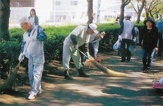 「シルバーの日」の清掃活動