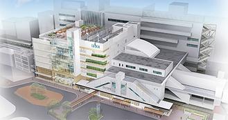 茅ケ崎駅南口側の外観イメージ