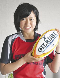 女子ラグビーの全国大会に出場する青木さん