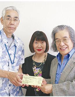 AMS企画の天野浩二さん(左)、永村さん(中央)