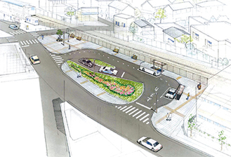 香川駅西口駅前広場の完成イメージ