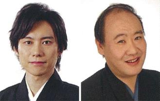 藤原道山さん、池上眞吾さん(左から)