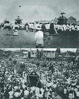 大正時代の浜辺(上)や昭和時代の茅ヶ崎駅北口などの写真を展示