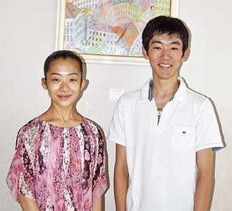海外へ旅立つ三橋さん(右)と菊池さん