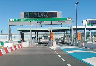 圏央道の入り口、茅ヶ崎JCT