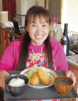 提供する料理を持つ古和田代表