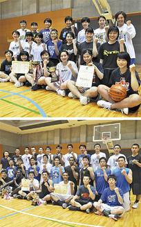 アレセイア湘南高等学校女子バスケ部(上)と男子バスケ部