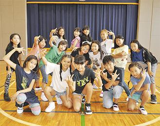 緑が浜小「J_STAR」のメンバー