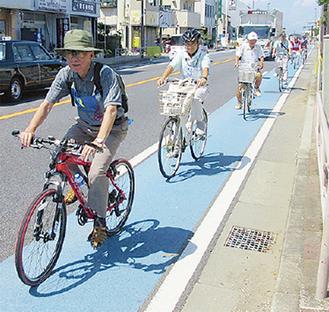 自転車の街を考える(写真は7月に開催したツーリング)