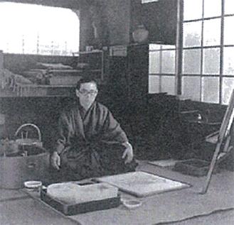 1931年頃の御舟画室