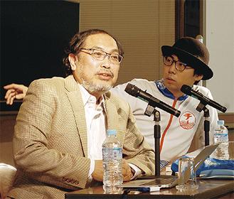 講演する宮治さん(左)と橋本さん