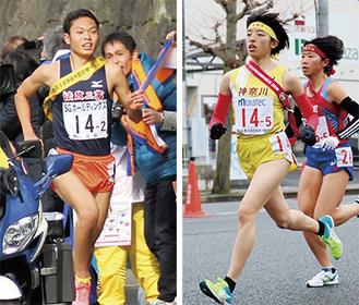 活躍が期待される吉村選手(右・写真は都道府県対抗駅伝)と石川選手(左・写真は全国高校駅伝)