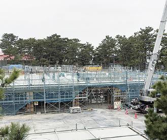 工事が進む(仮称)茅ヶ崎公園体験学習施設