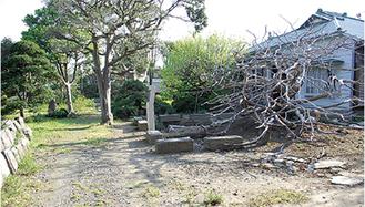 旧藤間家住宅の敷地