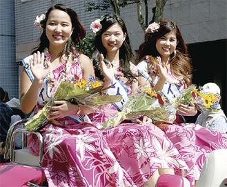 大岡祭パレードに参加した7代目スマイル茅ヶ崎