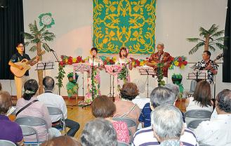 ハワイ色に染まったステージ