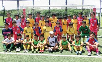 両市の子どもがサッカーで交流