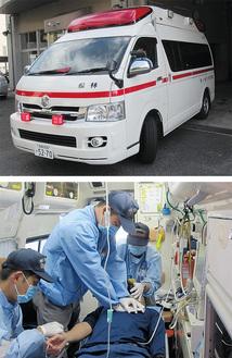 増加する救急搬送に対応(写真:市消防本部提供)