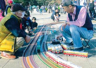 昨年の鉄道模型展示の様子