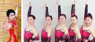 ▲ヴィグラスの今村一歩さん(左)と女子選手たち