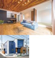 木造現場と入居宅を見学