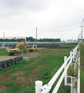 整備が進む建設予定地