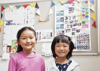 「犬新聞」製作の小田さん(左)と「マンホール新聞」の渡邊さん