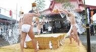 """100日荒行終え""""水行""""披露"""