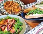 ▼手作りパテのサンドイッチやオーガニック野菜の惣菜など、手間暇かけて作られた逸品