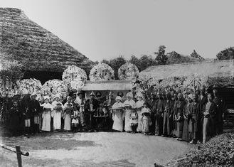 昔の辻堂地区の葬儀風景