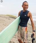 【3】会議の合間のサーフィンや、朝市で購入した「茅ヶ崎野菜」などの写真とともにSNSで『 茅ヶ崎ワーケーション』や茅ヶ崎暮らしを発信。「勝手に茅ヶ崎のセールスマンになって魅力をアピールしています」