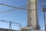 解体工事が進む給水塔