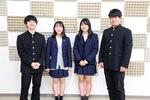 (左から)武田さん、岡崎さん、岩崎副部長、小原部長 現在部員募集中。「初心者も大歓迎です」