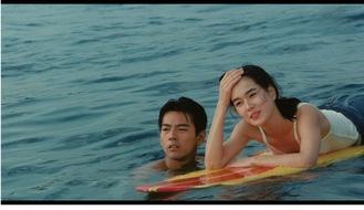 映画の1シーン。左から加勢大周さん、清水美砂さん(提供写真)
