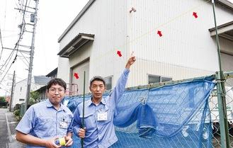 三橋さん(左)と中山さん※糸は見やすいよう加工しています