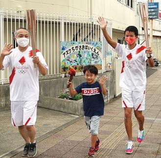 左から對比地さん、阪本君、藤崎さん