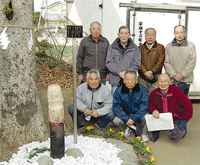 柳島八幡宮に繁栄と豊穣の象徴
