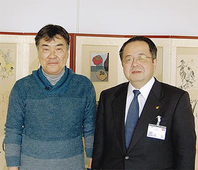 陶芸家の吉川さんが表敬訪問