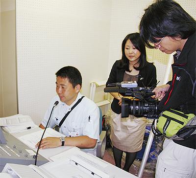 台湾のTV局が防災体制を取材