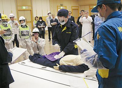 大災害に備え官民合同訓練