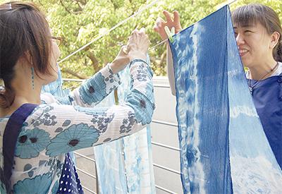 個性豊かな藍染作品