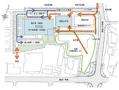 7階建ての新庁舎(案)発表