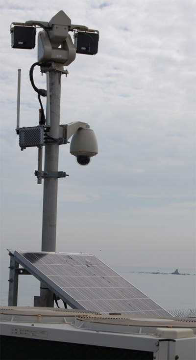 津波監視カメラを設置