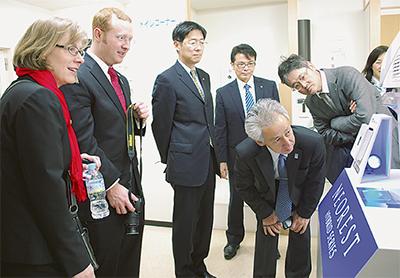 米から5人、企業を訪問
