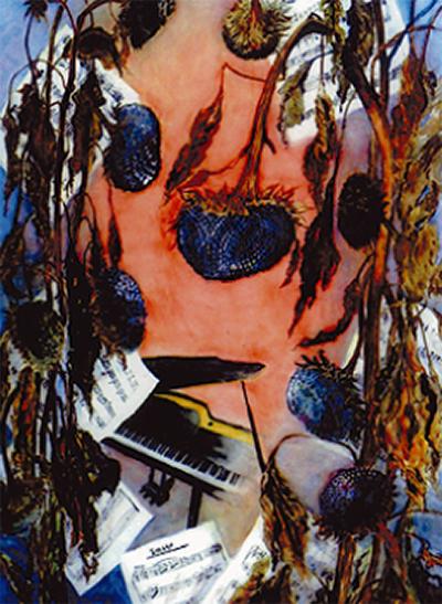 個性豊かな水彩画展