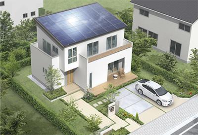 月々1万円台の支払いで太陽電池10kw搭載の注文住宅