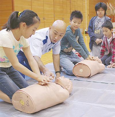 小学生が救命体験