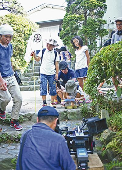茅ヶ崎館舞台に映画撮影