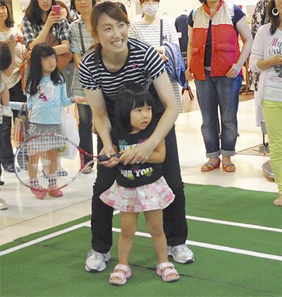 杉山愛さんとテニス